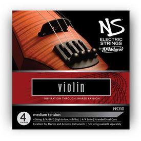 DAddario Orchestral D'Addario NS Electric Violin String Set, 4/4 Scale, Medium Tension