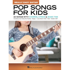 Hal Leonard Pop Songs for Kids – Really Easy Guitar Series 22 Songs with Chords, Lyrics & Basic Tab