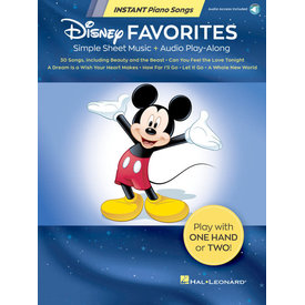 Hal Leonard Disney Favorites – Instant Piano Songs Simple Sheet Music + Audio Play-Along