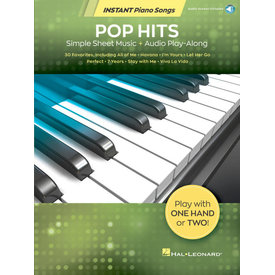 Hal Leonard Pop Hits – Instant Piano Songs Simple Sheet Music + Audio Play-Along