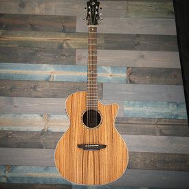 Luna Luna Guitars High Tide Zebrawood Grand Concert Cutaway A/E