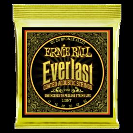 Ernie Ball Ernie Ball Everlast Light Coated 80/20 Bronze Acoustic Guitar Strings