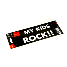 "Fender ""My Kids Rock"" Bumper Sticker"