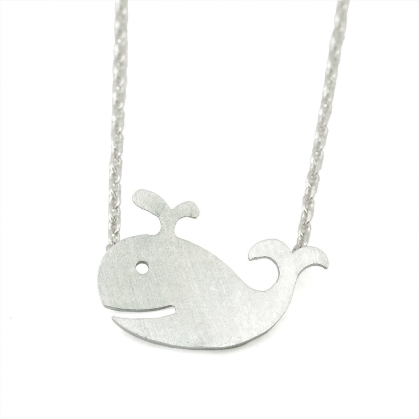 Ocean Wise Whale Necklace Silver