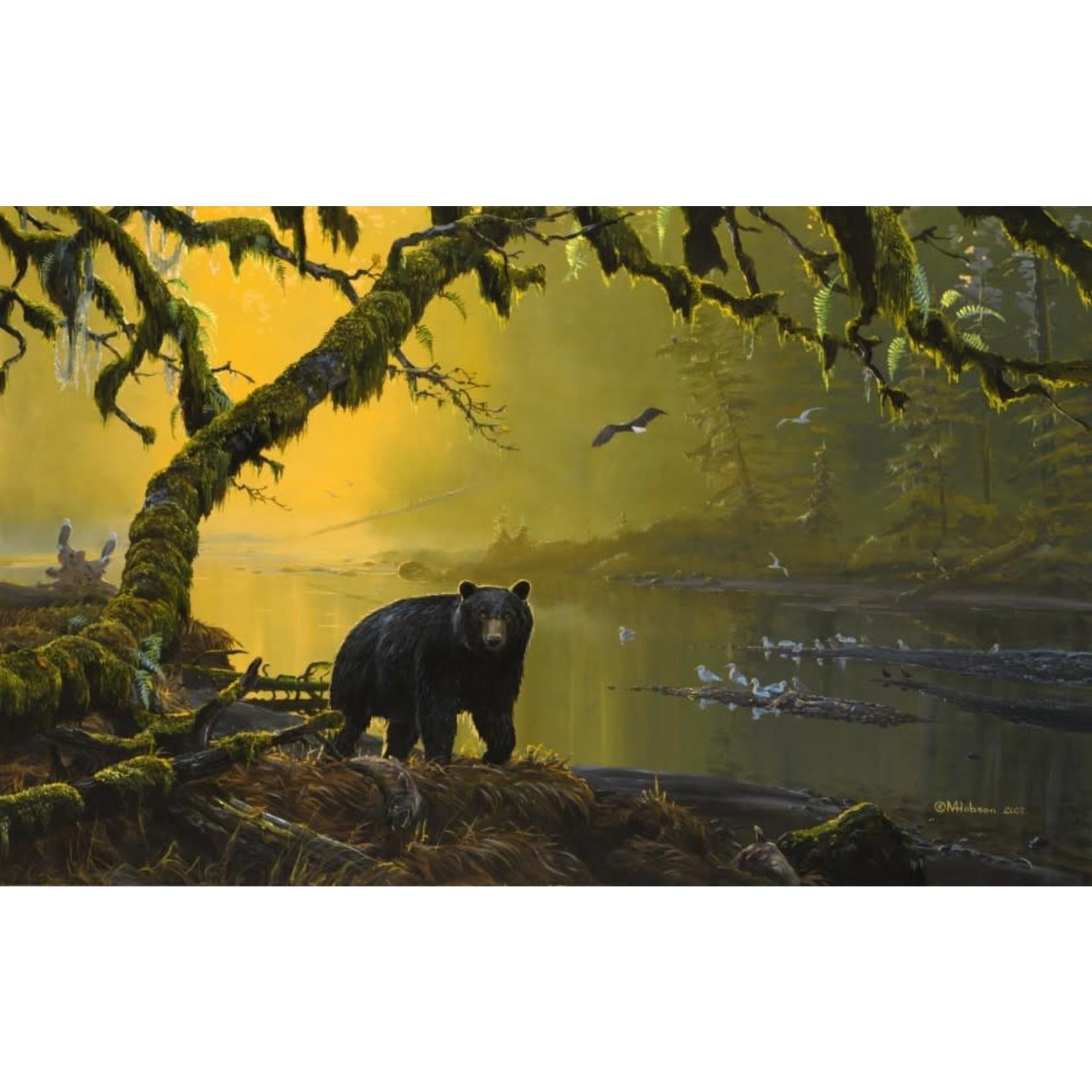 Mark Hobson Art Card Black Bear: Tranquil River