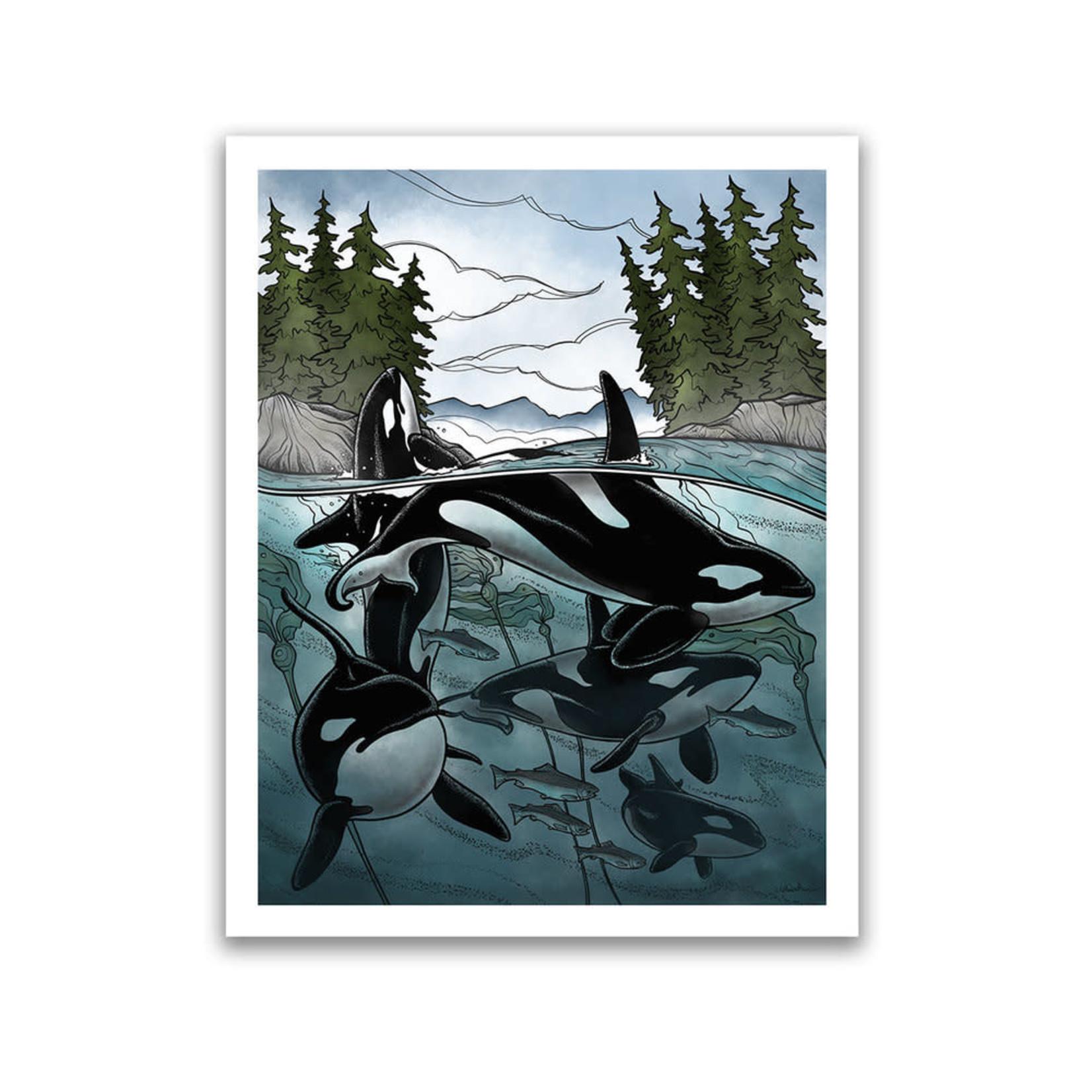 Claire Watson Coastal Hunters Art Card