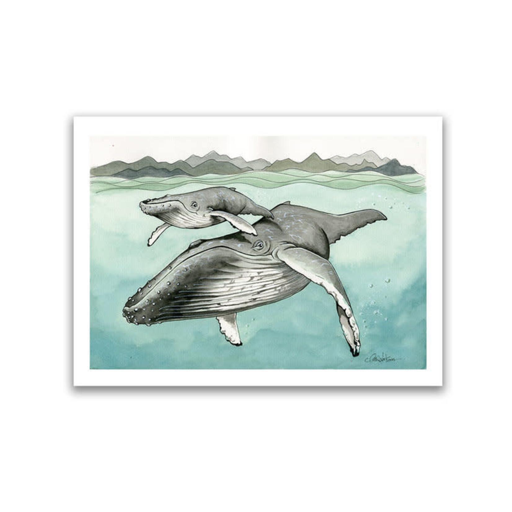 Claire Watson Humpback Art Card