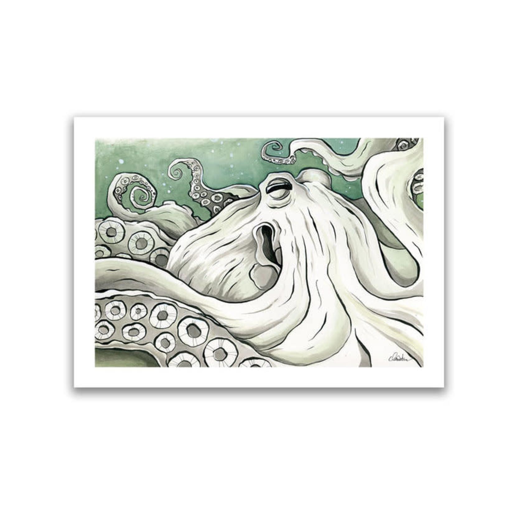 Claire Watson Octopus Art Card
