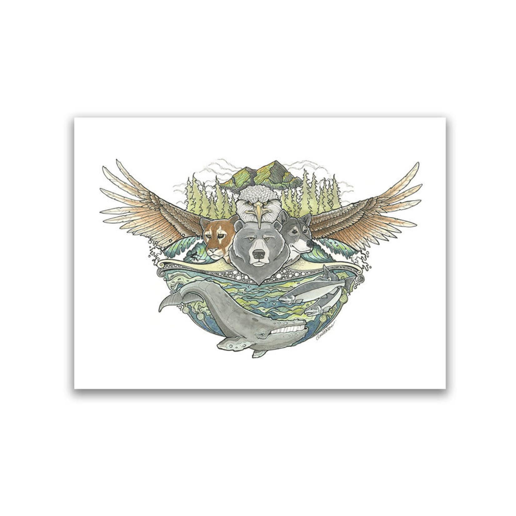 Claire Watson Westcoast Wild Art Card