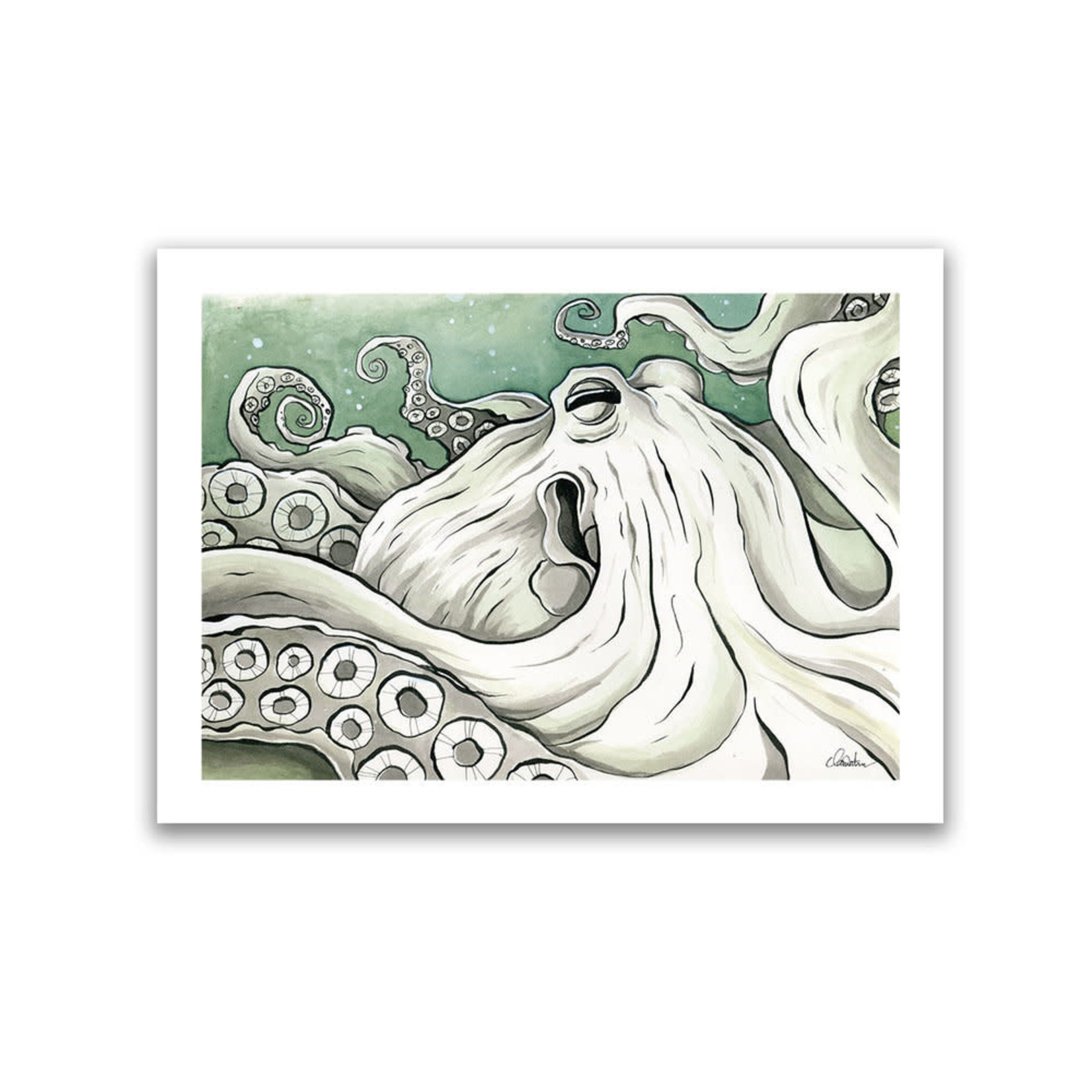 """Claire Watson Octopus 8""""x10""""  Print"""