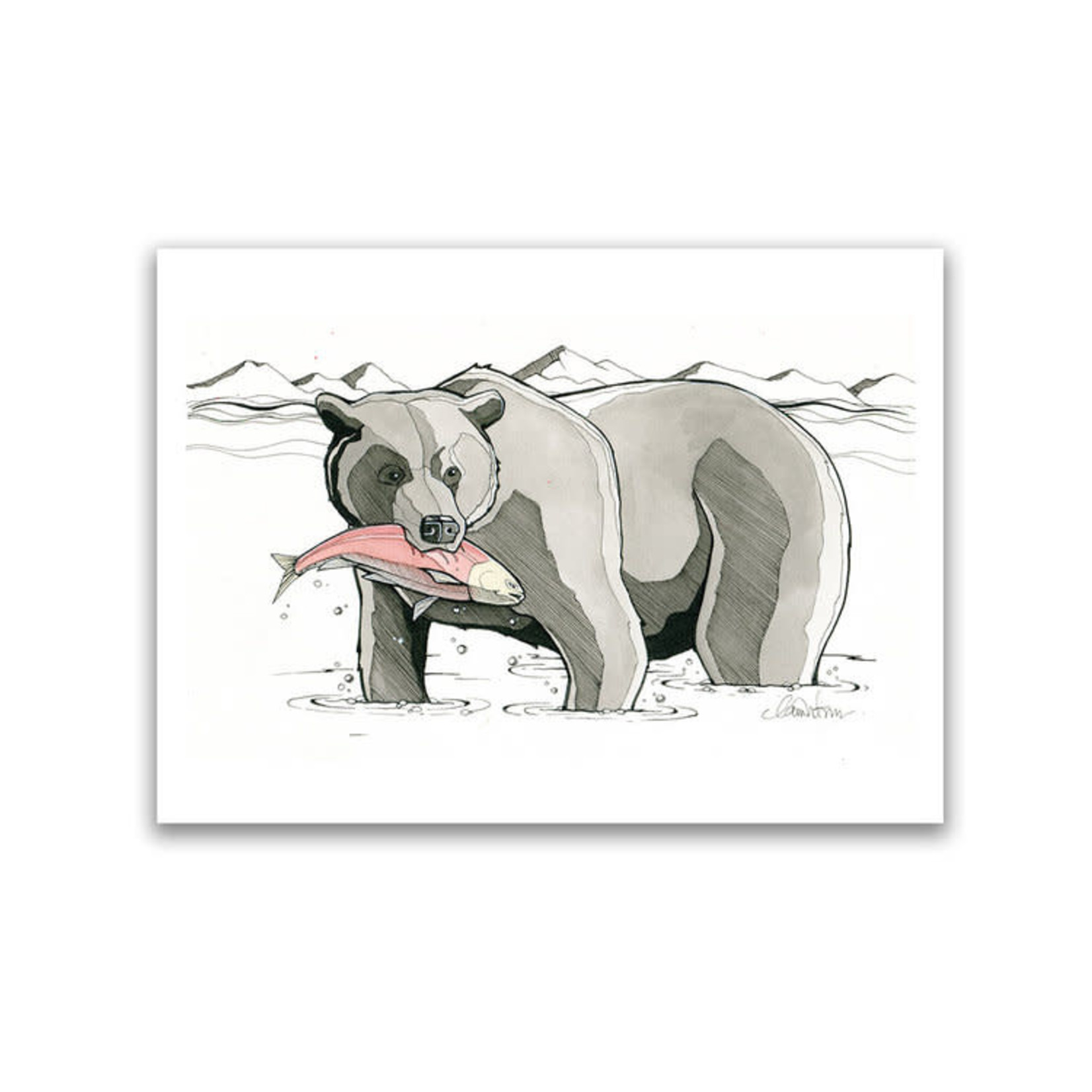 Claire Watson Bear Art Card