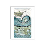 Claire Watson Long Beach Break Art Card