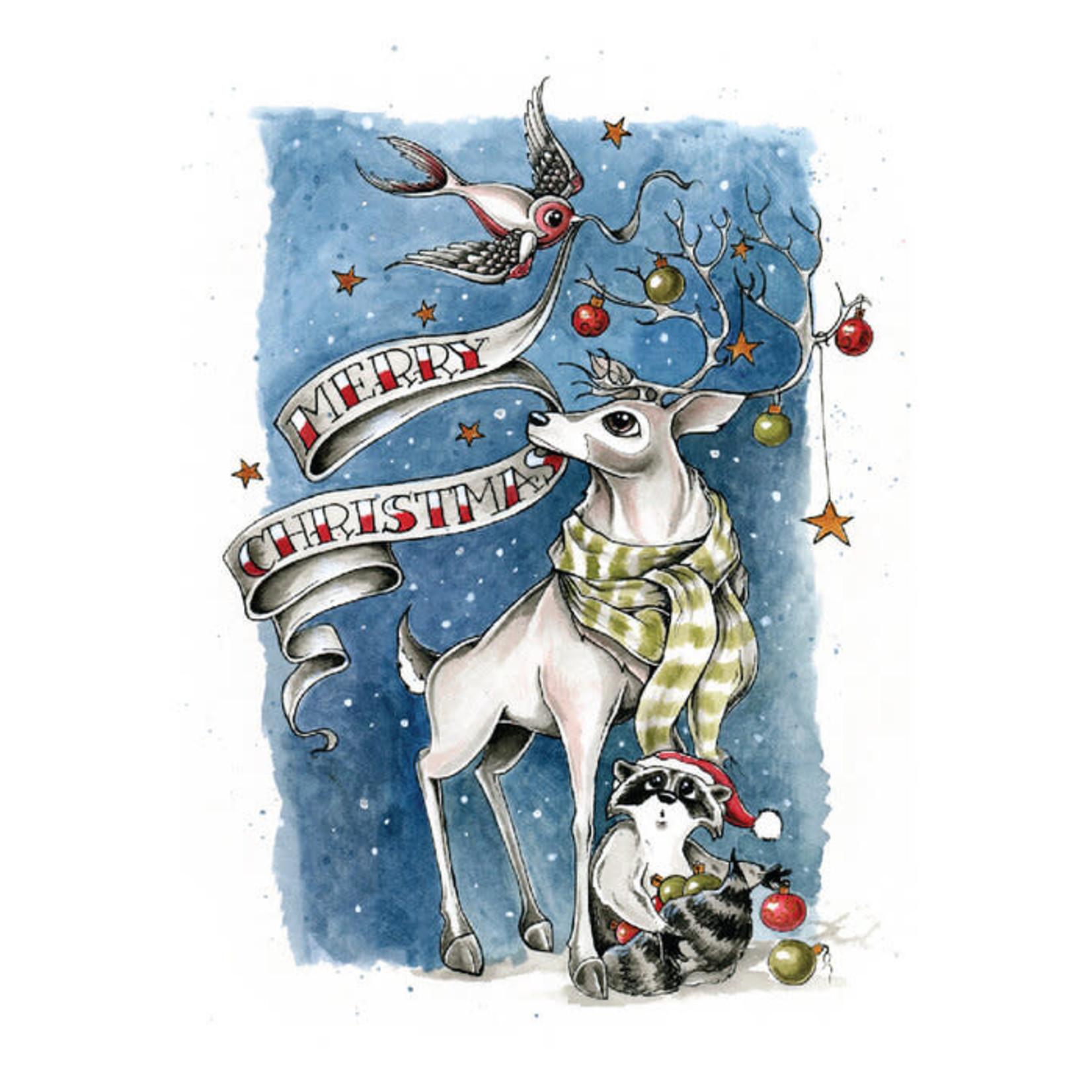 Claire Watson Card Festive Animals