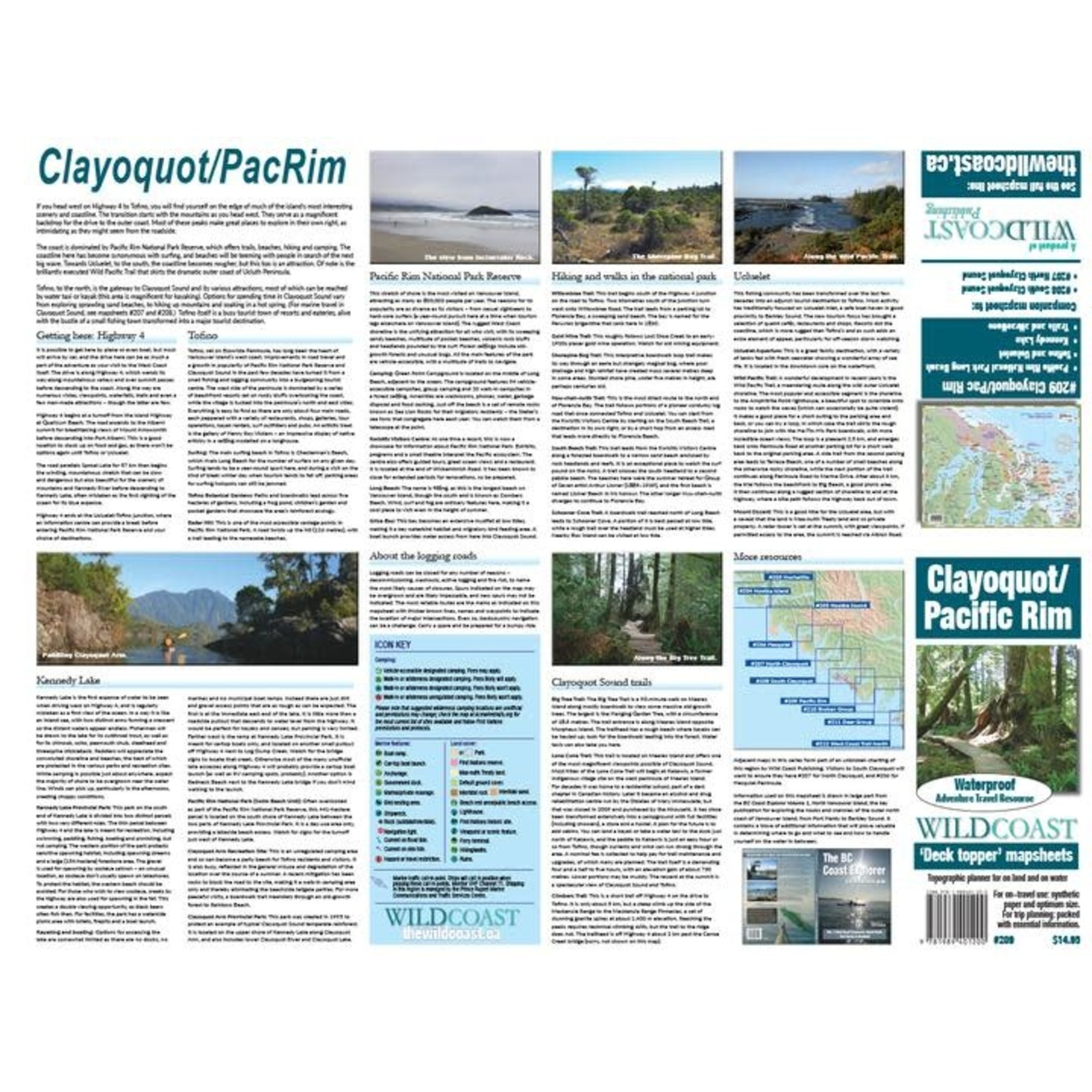 Wild Coast Publishing Map Clayoquot/Pacific Rim 209W