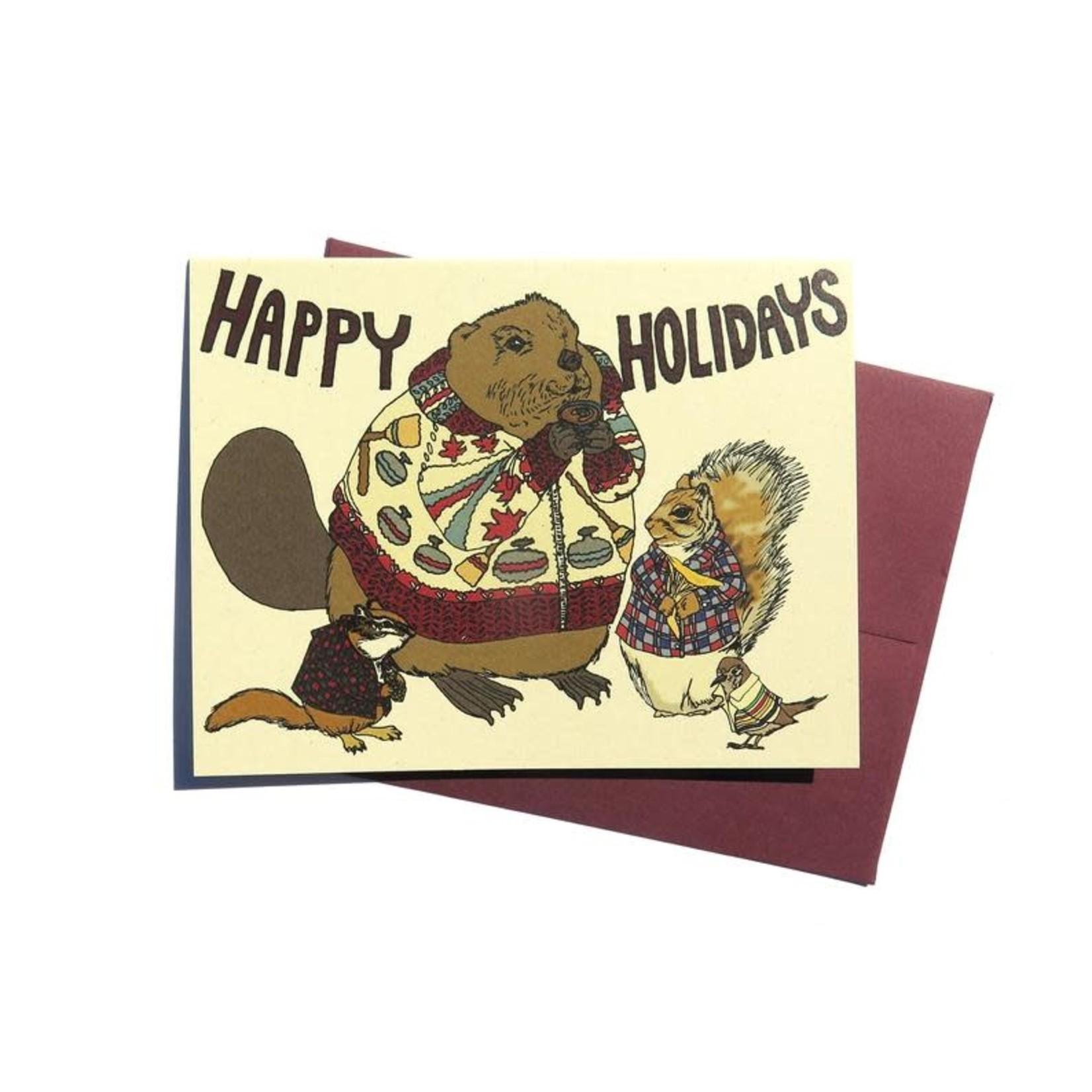 Wild Life Happy Holidays Card