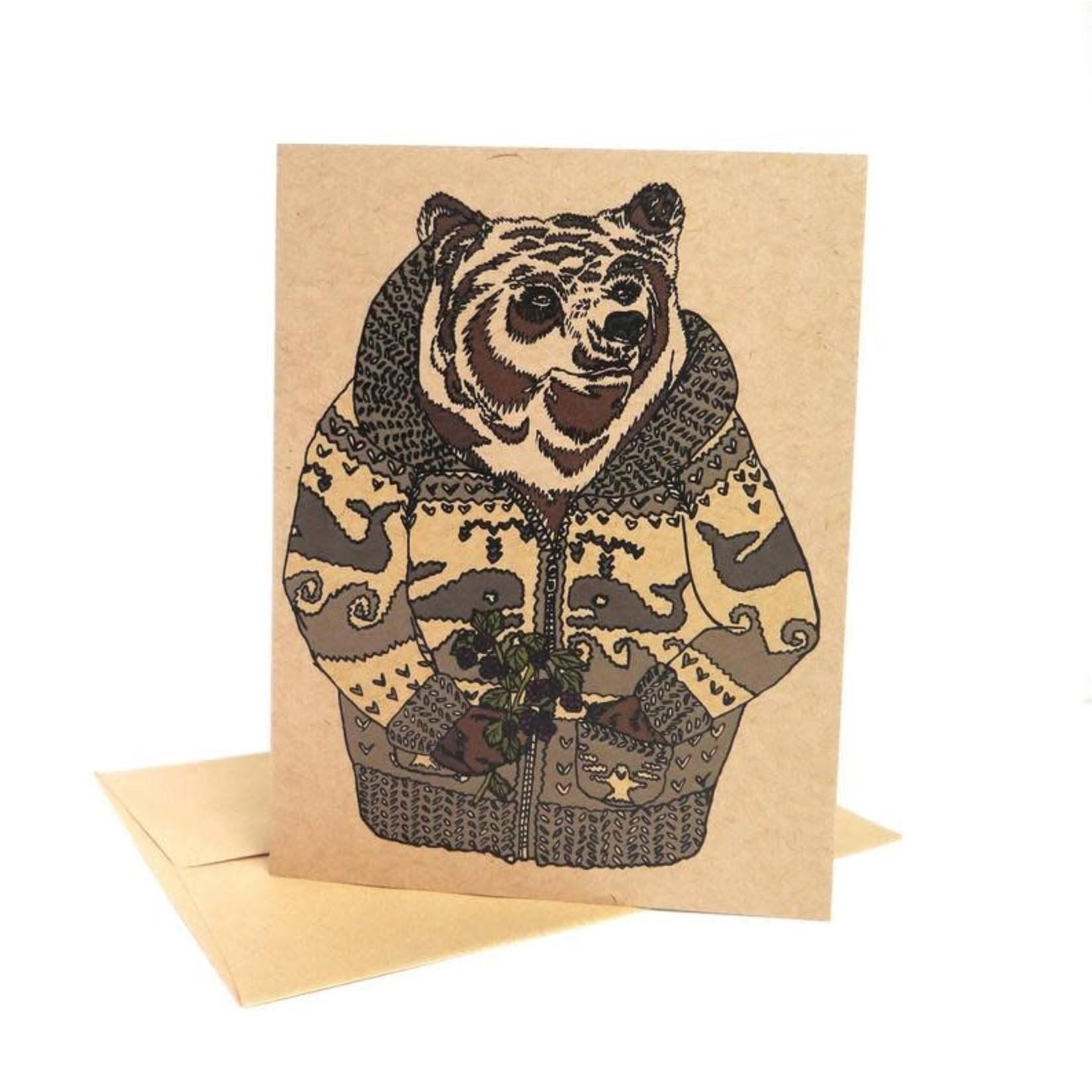 Wild Life Cozy Sweater Bear Card