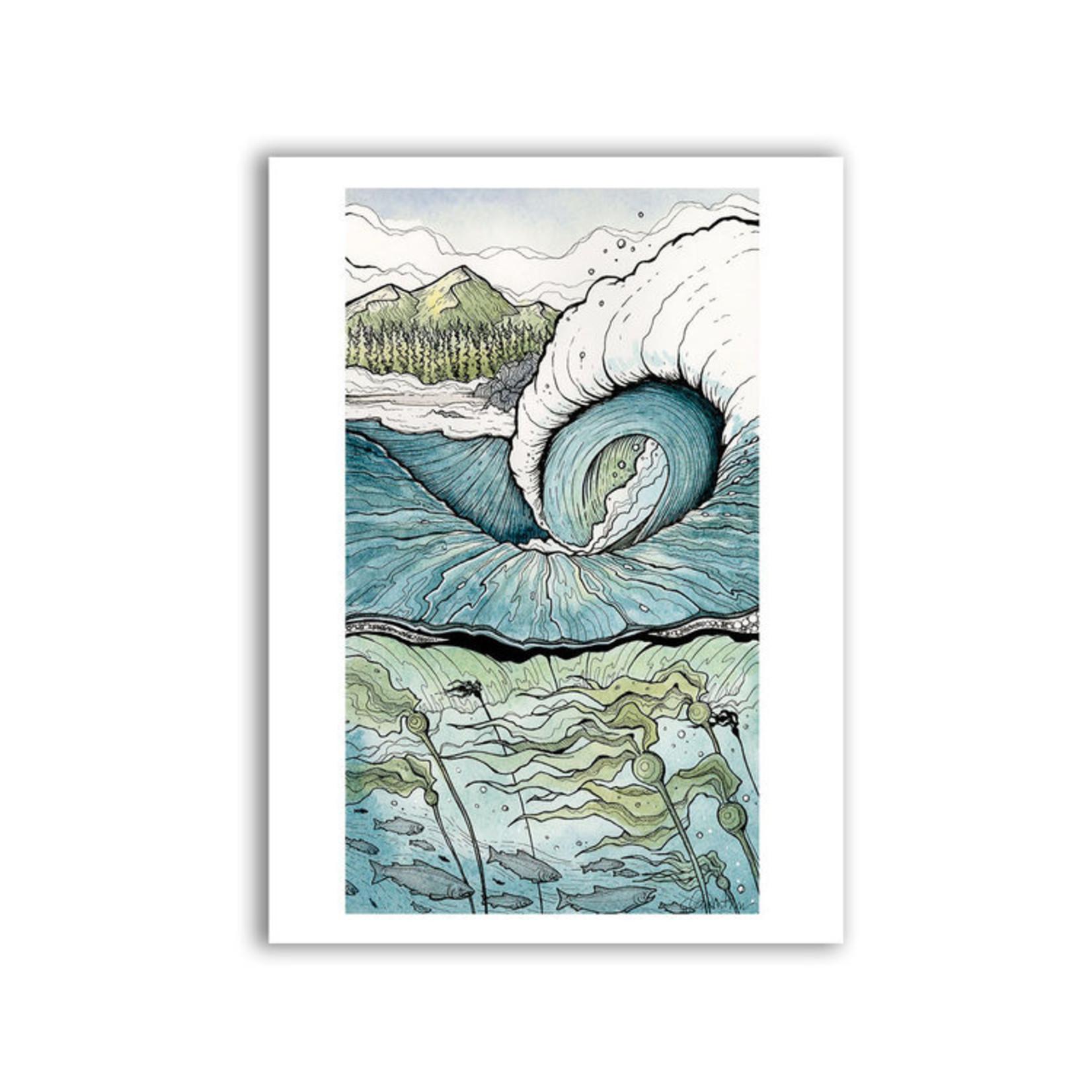 "Claire Watson Long Beach Break 12"" x 18"" Print"