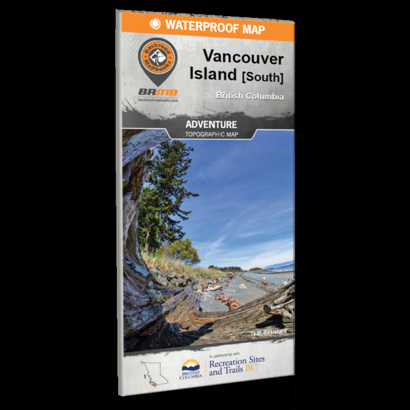 Backroad Mapbooks Van Isl South Waterproof Map