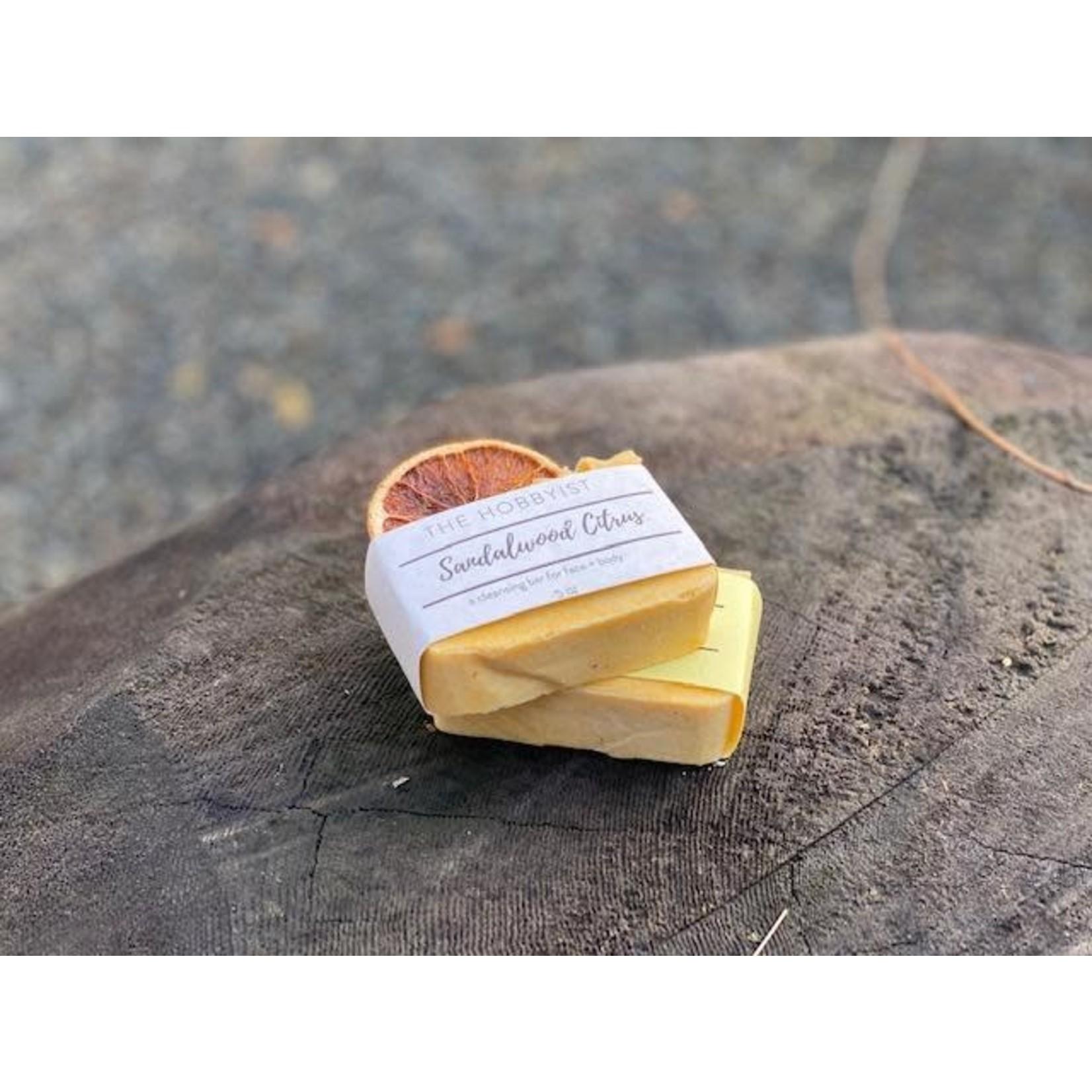 The Hobbyist Sandalwood + Citrus Cold Press Soap