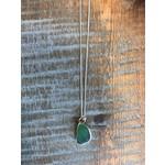 Mermaids Tears Seaglass Pendant Green