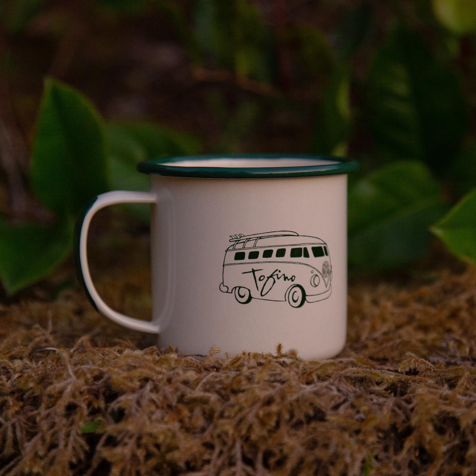 Tourism Tofino Enamel Mug Off White/Green
