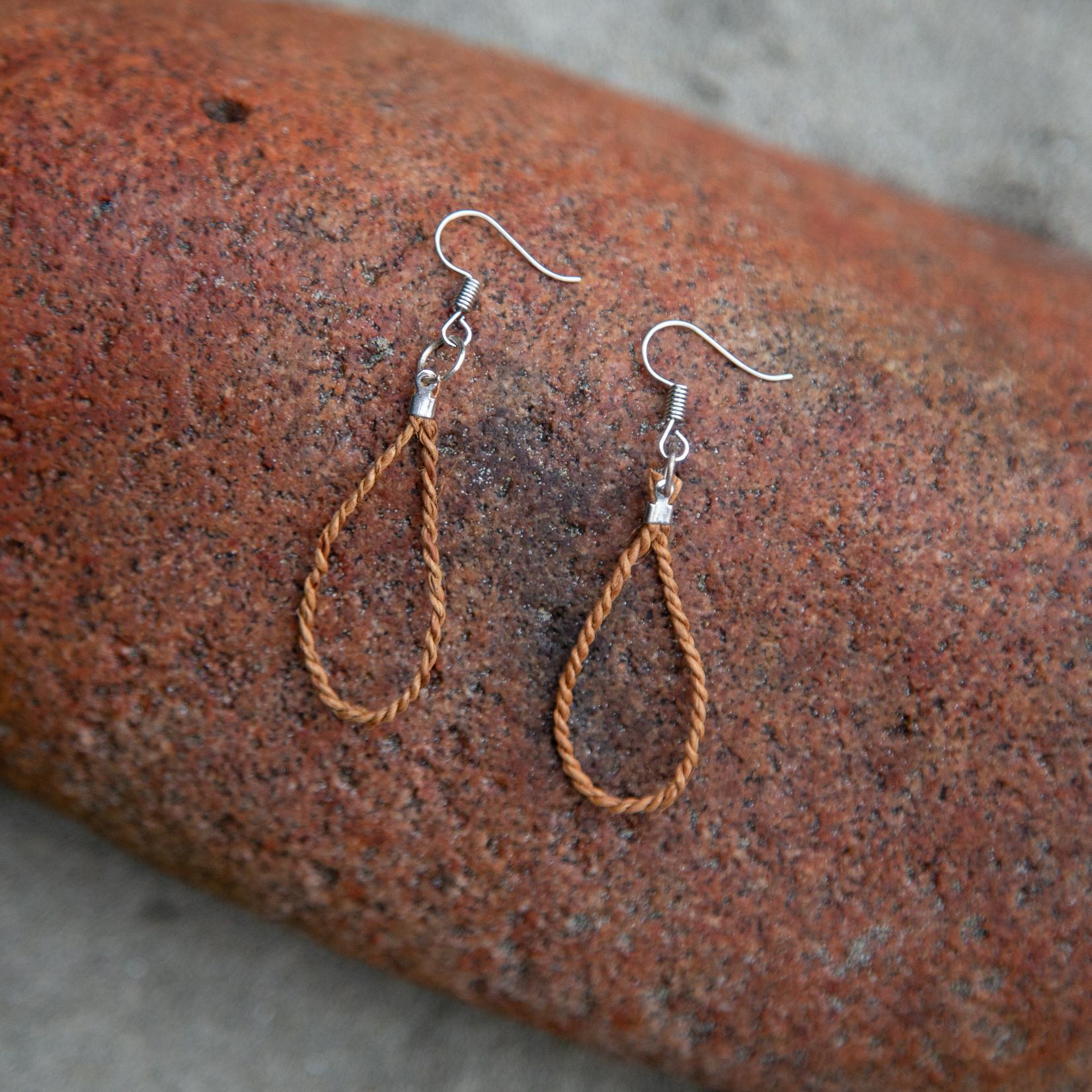 Elizabeth George earrings cedar rope