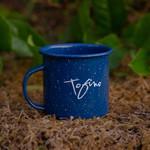 Tourism Tofino Enamel Mug Blue