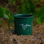 Tourism Tofino Enamel Mug Green