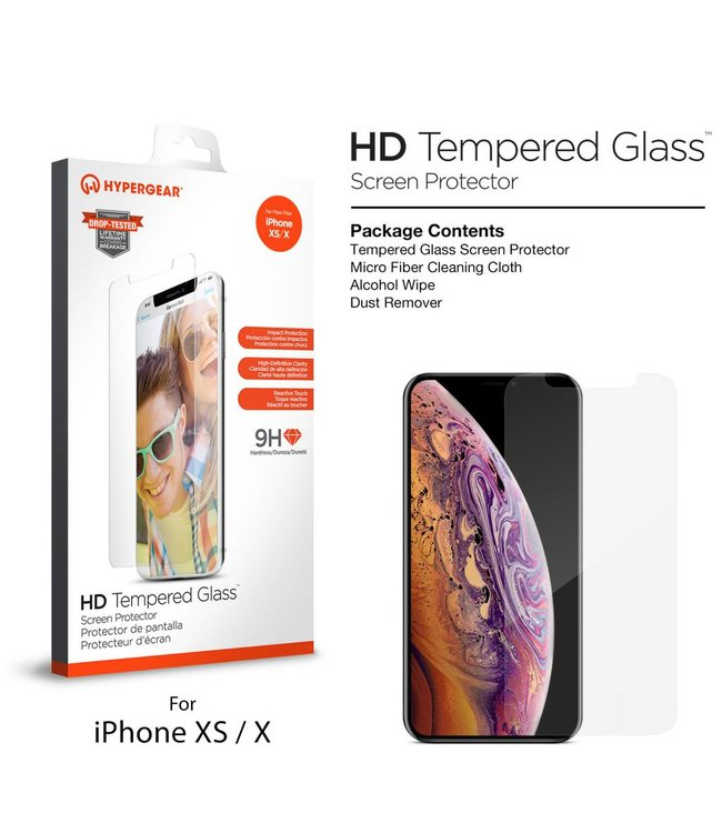 HyperGear HyperGear Premium Tempered Glass for iPhone X/XS