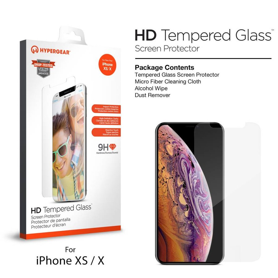 HyperGear Premium Tempered Glass for iPhone X/XS