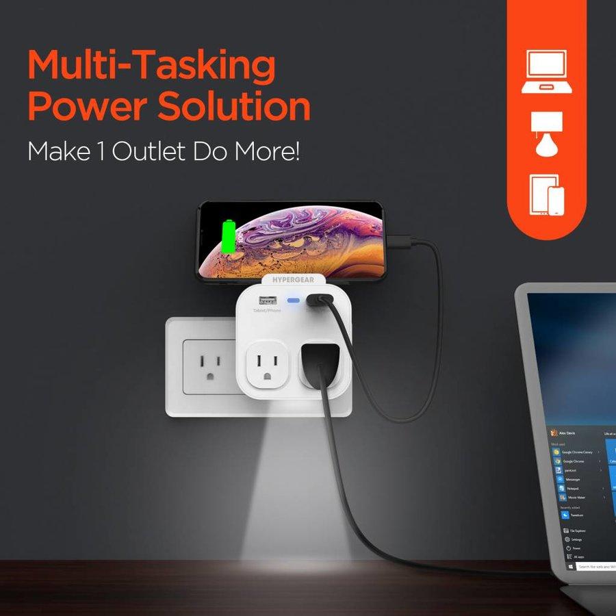 Multi-Charger + Holder + Nightlight