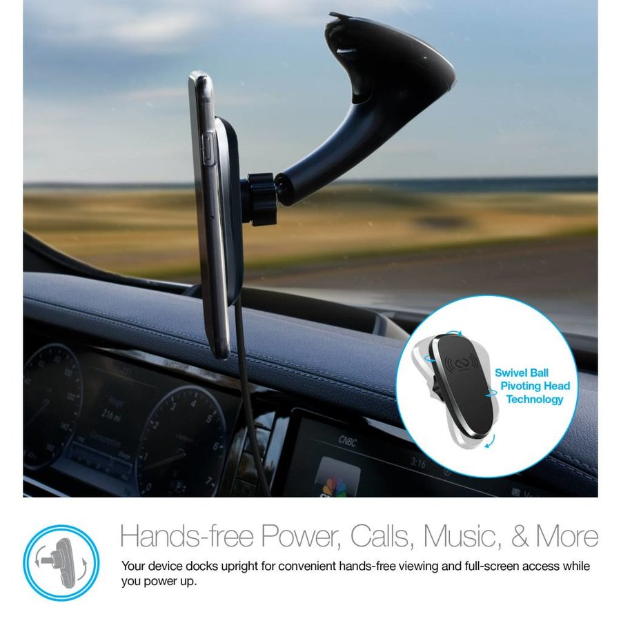 MagBuddy® Wireless Charge Windshield Mount