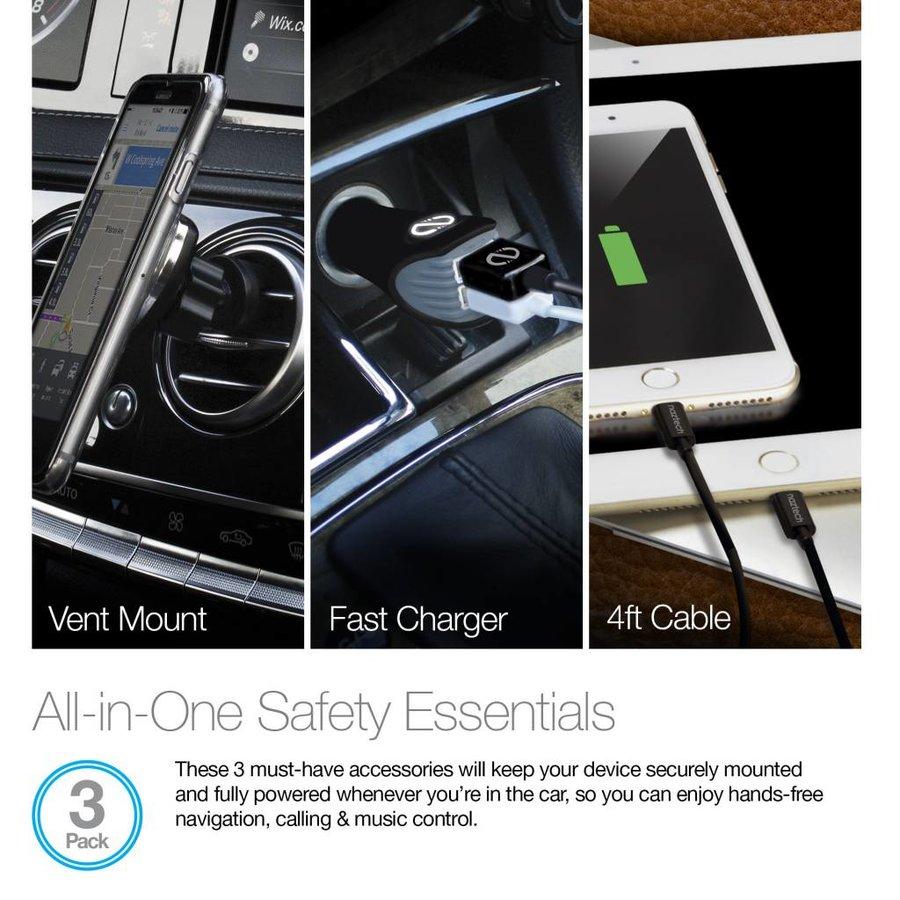 Safety Essentials Car Kit - MFi Lightning