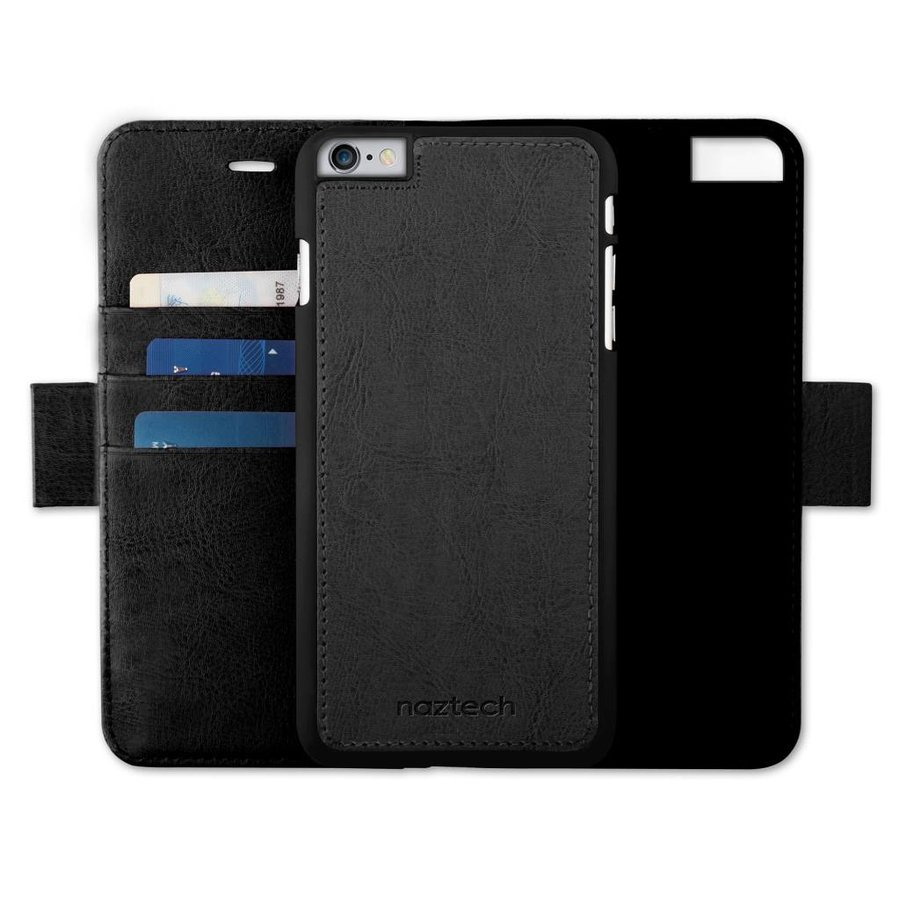 Naztech Allure Magnetic Cover + Wallet for iPhone 7 - Black