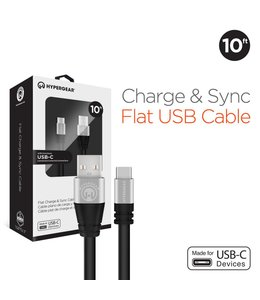 HyperGear Flexi USB-C Charge & Sync Cable - 10 ft