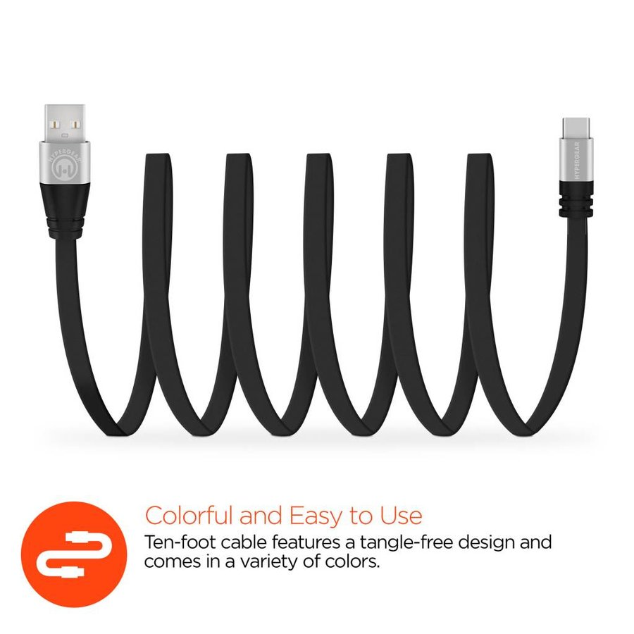 Flexi USB-C Charge & Sync Cable - 10 ft