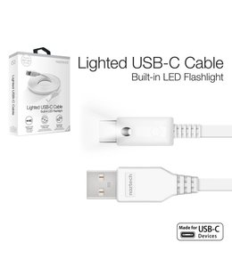 Naztech Lighted USB-C Cable 6 ft - White