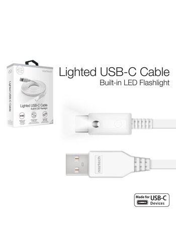 Lighted USB-C Cable 6 ft - White