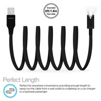 Lighted USB-C Cable 6 ft - Black
