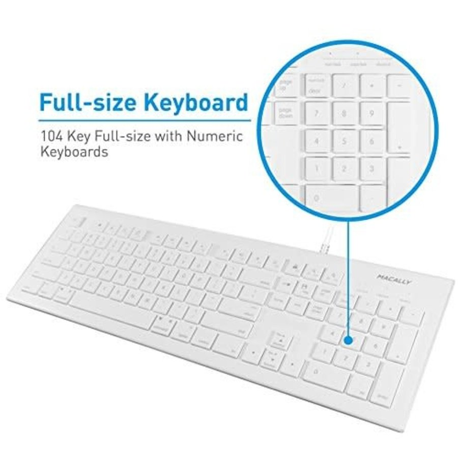 Macally Mac Keyboard and Mouse Combo - Wired
