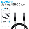 Naztech Braided Fast Charge MFi Lightning to USB-C Cable - Black