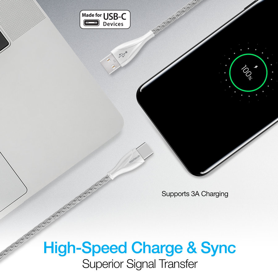 Elite Series USB-C Charge & Sync Cable-Silver