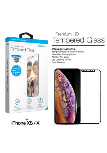 Naztech Premium HD Tempered Glass for iPhone XS/X