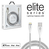 Naztech Elite Series MFi Lightning Charge & Sync Cable-Silver
