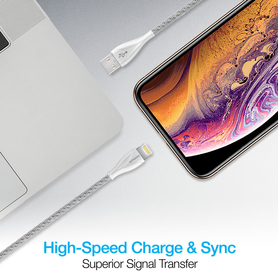 Elite Series MFi Lightning Charge & Sync Cable-Silver