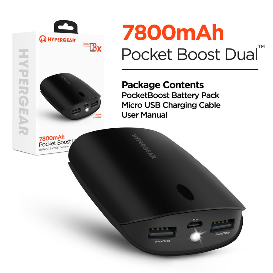 Pocket Boost Dual 7800mAh Portable Battery