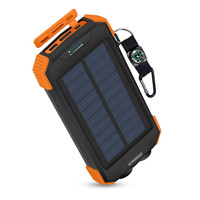 Solar 10000mAh Wireless Power Bank - Black