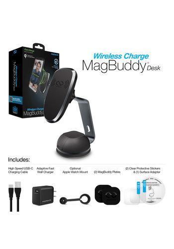 MagBuddy® Wireless Charge Desk Mount - Gunmetal
