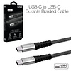 Naztech USB-C to USB-C Durable Braided 4ft. Charge & Sync Cable-Black