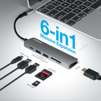 All-in-One USB-C Adapter Hub - Space Grey